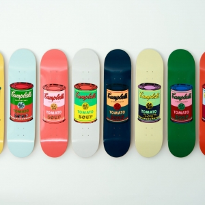 Andy Warhol - Coloured Campbell's Soup Cans, the skateroom